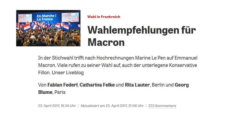 Mazurka – Polen und Frankreich – bleibt da! Macron vorne!